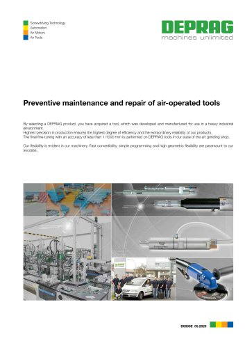 Preventive maintenance and repair of air-operated tools