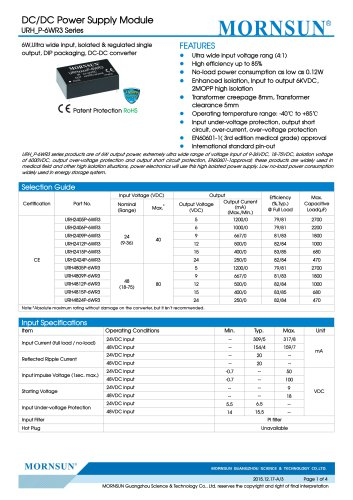 2MOPP high isolation URH_P-6WR3 Series For Medical industry