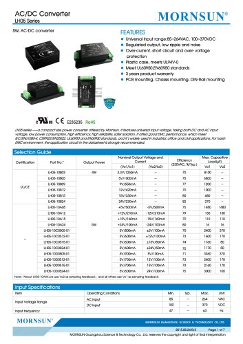 Compact Size Power Converte LH05