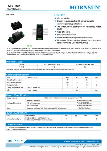FS-A01D / Surge Suppressor