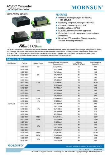 LHxx-13Bxx / 5,10,15,20,25watt AC/DC power supply / converter / Industrial control