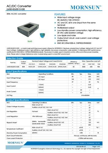 LM30 / 30watt / AC DC power supply / multiple outputs / Metal case
