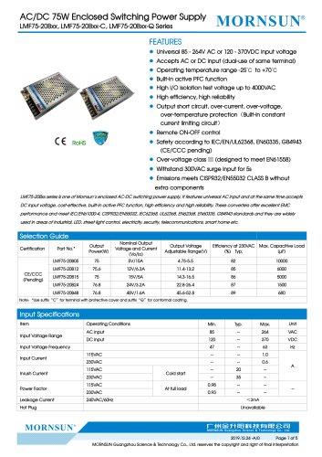 Mornsun Enclosed power supply LMF75-20Bxx