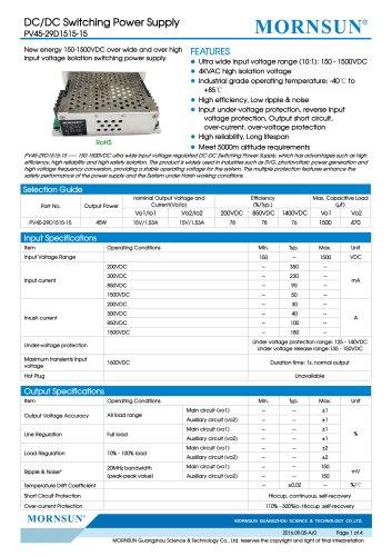 PV45-29D1515-15 designed for SVG