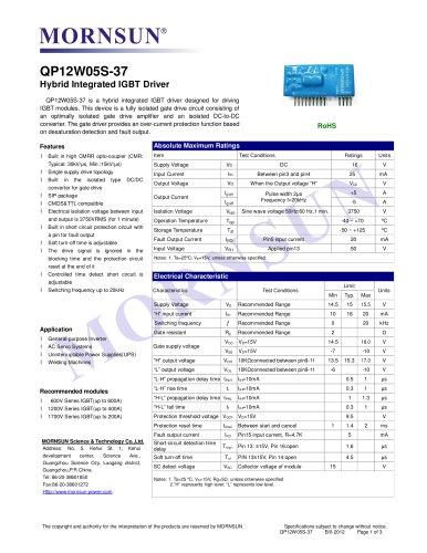QP12W05S-37 / Hybrid Integrated IGBT driver