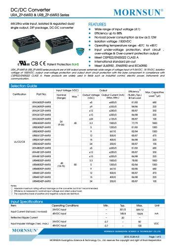 URA_ZP-6WR3 Meet UL60950 , EN60950 and IEC60950
