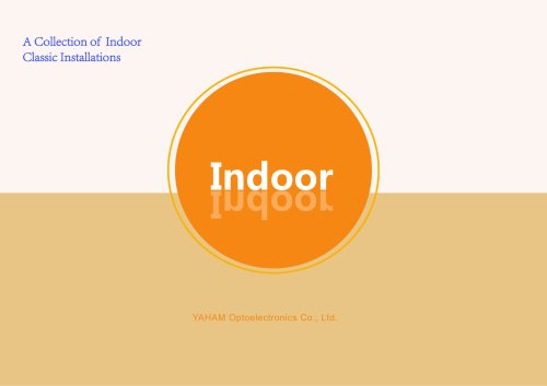A Collection of Indoor Classic Installations  Catalogue