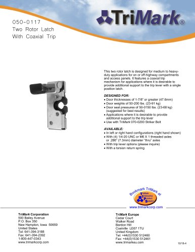 050-0117 Two Rotor Latch With Coaxial Trip