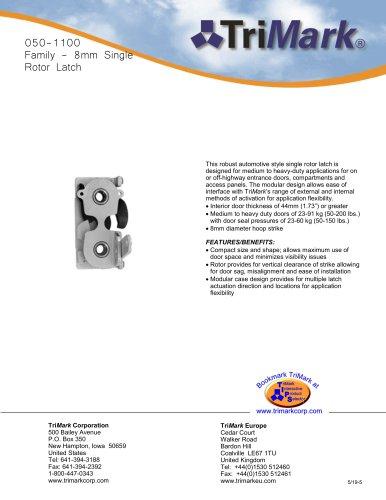 050-1100 Family - 8mm Single Rotor Latch