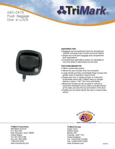 060-0475 Flush Baggage Door e-LOCK