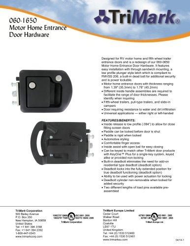 060-1650 Motor Home Entrance Door Hardware