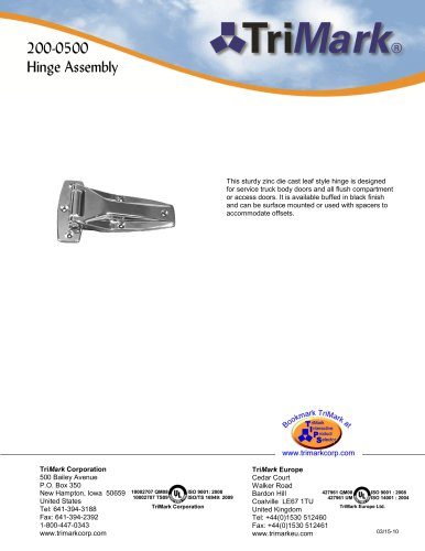 200-0500 Hinge Assembly