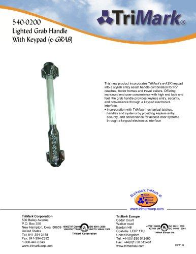 540-0200 Lighted Grab Handle With Keypad (e-GRAB
