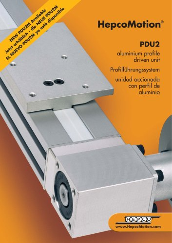 PDU2 aluminium profile driven unit