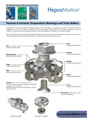 Vacuum & Extreme Temperature Bearings and Track Rollers