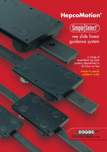 vee slide linear  guidance system