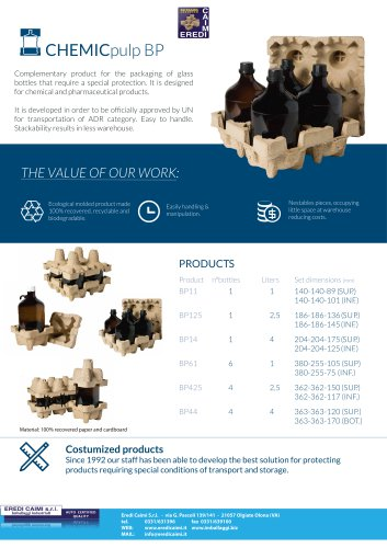 chemic pulp packaging
