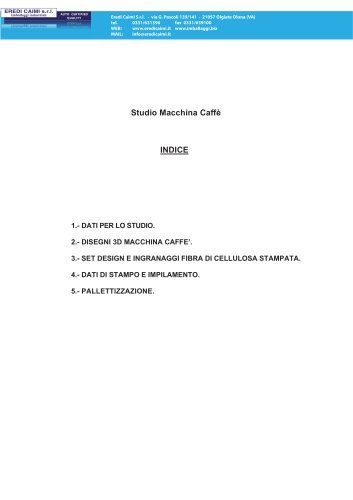 studio imballo macchina caffè
