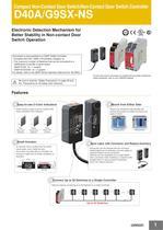 D40A / G9SX-NS Compact Non-Contact Door Switch/Non-Contact Door Switch Controller
