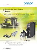 G5-series AC Servomotors/Servo Drives with General-purpose Pulse Train or Analog Inputs