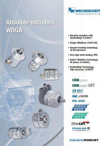 Absolute encoders WDGA