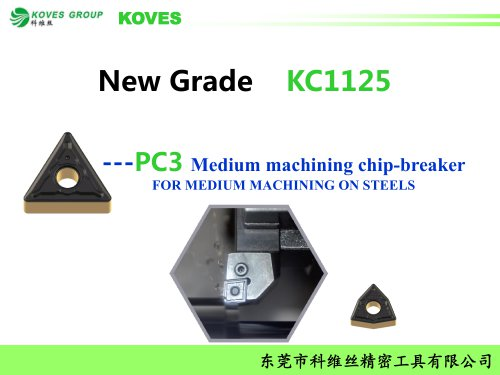 PC3-KC1125 for steel with high performance