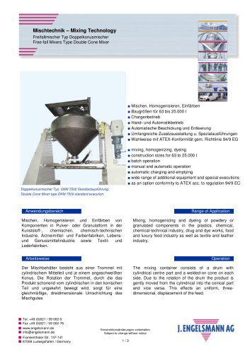 Brochure Double Cone Mixers