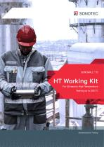 High-temperature ultrasonic testing up to 550°C