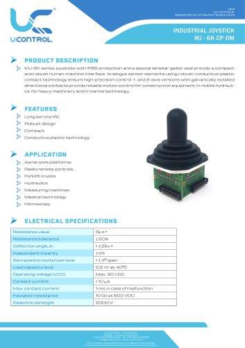INDUSTRIAL JOYSTICK MJ - 6K CP OM