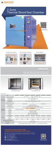 2 Zone Thermal Shock Test Chamber