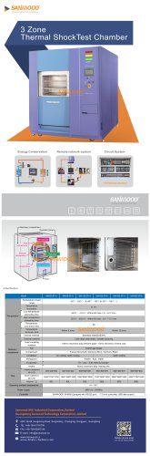 3 Zone Thermal Shock Test Chamber