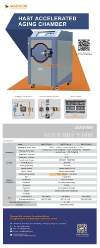 AGING TEST CHAMBER / CLIMATIC / TEMPERATURE / HIGH-PRESSURE SM-PCT-250-A