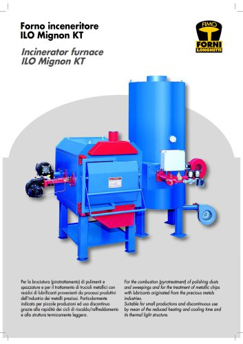 Incinerator furnace ILO Mignon KT