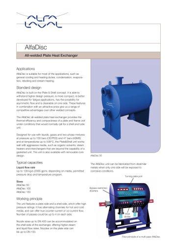 AlfaDisc - All-welded Plate Heat Exchanger