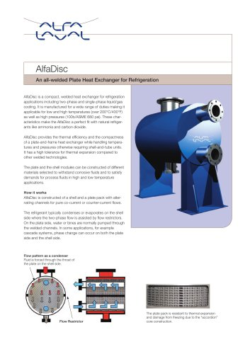 AlfaDisc - An all-welded heat exchanger for refrigeration