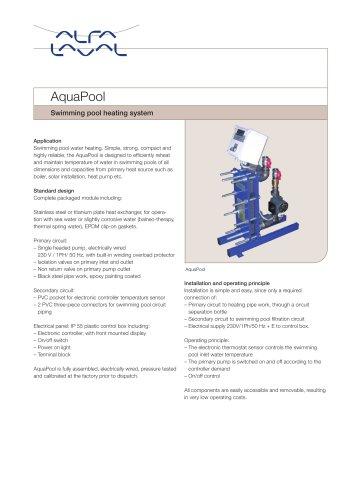 AquaPool Swimming pool heating system