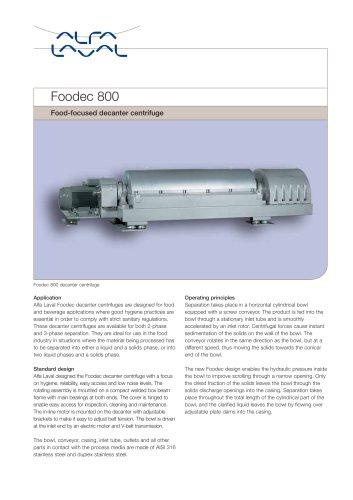 Foodec 800