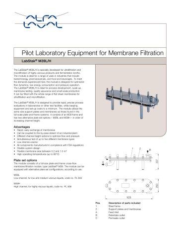 LabStak for membrane filtration M39L-H