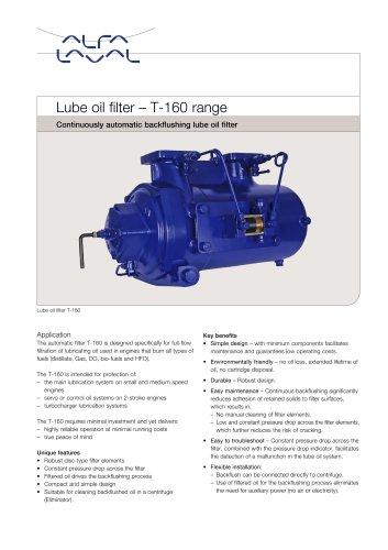 Lube oil filter T-160 range