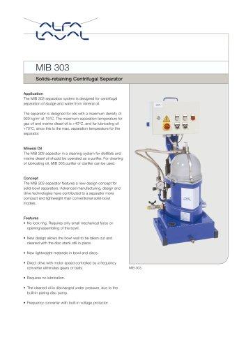 MIB 303 - Solids-retaining Centrifugal Separator