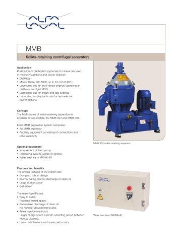 MMB - Solids-retaining centrifugal separators