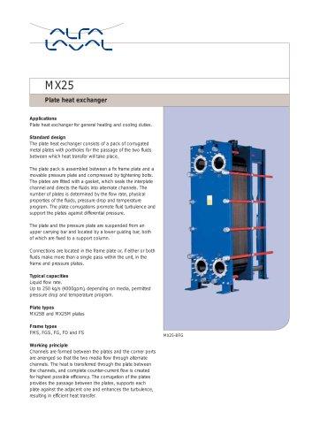 MX25 - Plate heat exchanger