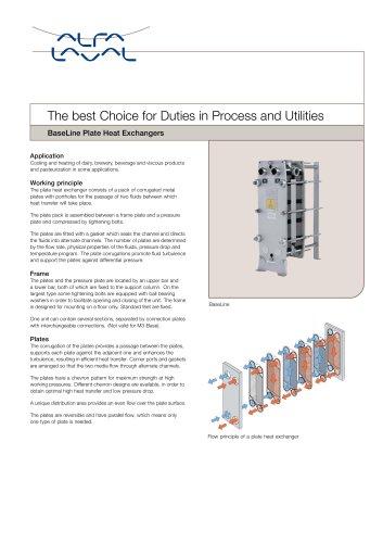 PD Sheet - BaseLine - Plate Heat Exchanger