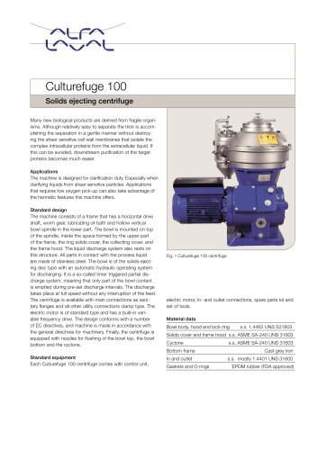 Solids ejecting centrifuge
