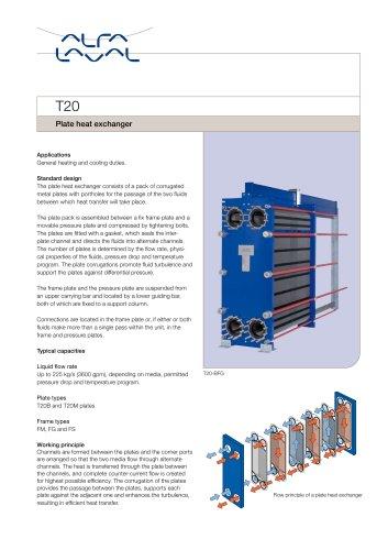 T20 - Plate heat exchanger