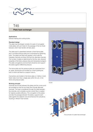 T45 - Plate heat exchanger