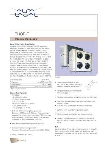 THOR-T - Industrial shock cooler