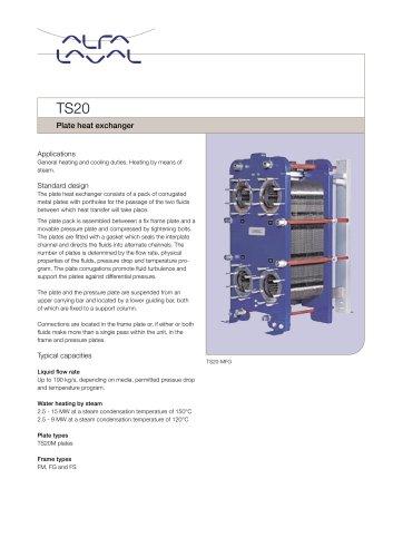 TS20 - Plate heat exchanger