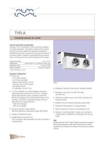 TYR-A - Industrial airsock air cooler