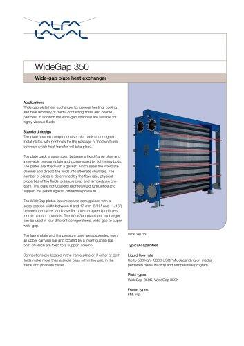 Wide-gap plate heat exchanger